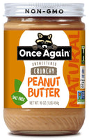 Delicious, all natural crunchy peanut butter. Made by roasting and grinding blanched, dry roasted peanuts until they are wonderfully creamy - then we add our crunchies