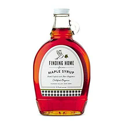 Certified organic maple syrup packaged in a beautiful bottle with a metal collar, this 12 oz bottle of hand crafted 100% pure happiness is perfect to buy for yourself or a gift.  12 fl oz Glass bottle