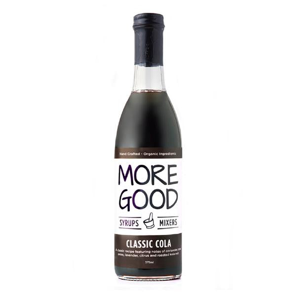 Drink More Good redefines soda by using real ingredients, organic cane sugar, and no preservatives in our handcrafted syrups.  Committed to global impact through local success, and direct a portion of profits towards building clean water wells around the world.  375ml glass bottle