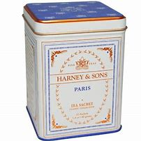Mike Harney has enjoyed many a pot of tea in the famous Paris tea shops. In homage, he created what's now become one of our most popular blends, reminiscent of a Parisian favorite. A fruity black tea with vanilla and caramel flavors, it contains a hint of lemony Bergamot. Try our large box of 50 convenient tea bags. Each tea bag brews a 6 to 8 oz cup of tea. Ingredients: Black tea, oolong tea, black currant flavor, vanilla flavor, bergamot oil, caramel flavor. All Natural. 20 single sachets 1.4oz/40g tin
