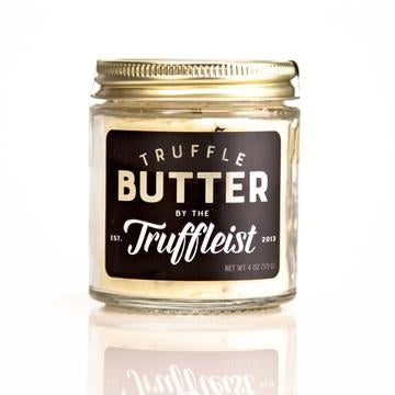 This butter is made with truffles at 6% and truffle oil added into the mix for those who enjoy a more subtle truffle flavor. 4 oz.  Ingredients: Kriemhild Meadow Butter (NY), Perigord black winter truffles (Tuber melanosporum) 6%, Sicilian sea salt (unrefined, hand harvested), truffle oil