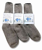 Made with only Finnsheep wool from Point of View Farm and 30% nylon for durability and long wear. These are rugged socks designed to keep your feet warm in coldest weather mother nature has to throw at you.
