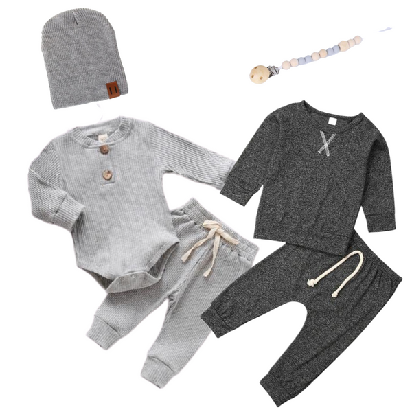 Baby Boy Shades of Grey Set