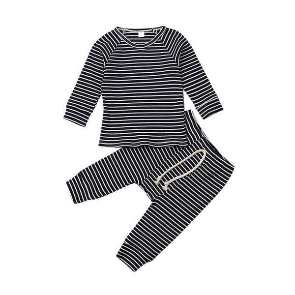 Striped Ribbed Jogger Set