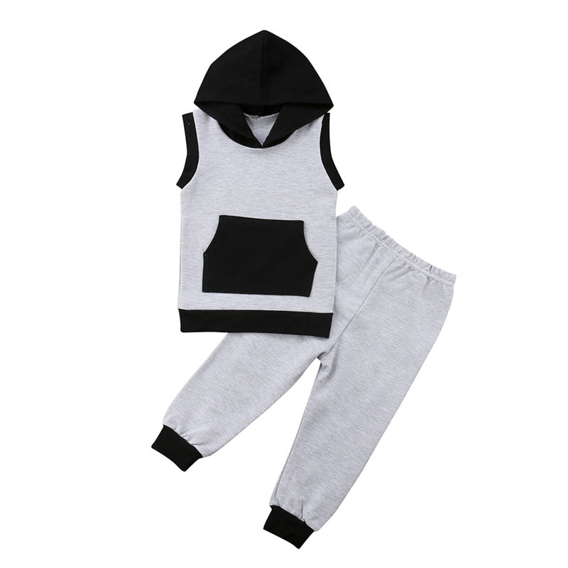 Sleeveless Hooded Set