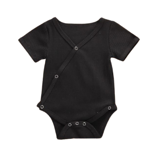 Short Sleeve Crossover Bodysuit