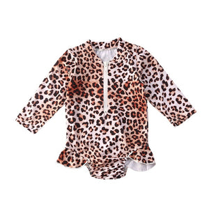 Leopard Rash Guard One-Piece