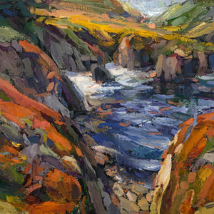 Fine Art Landscape of Big Sur Coastline impressionist style painted by Sean Diediker Episode Canvasing Big Sur California America USA