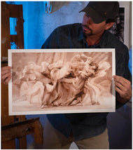 Artist Sean Diediker shows a fine art reproduction of his painting Tango inspired by Buenos Aires Argentina.