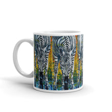 "Load image into Gallery viewer, Taza ""A Zebra Takes Its Stripes Wherever it Goes"""
