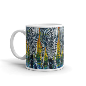 "Taza ""A Zebra Takes Its Stripes Wherever it Goes"""
