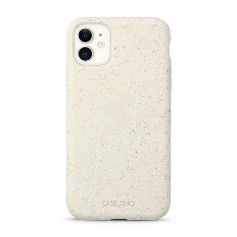 Cotton White Biodegradable iPhone 11 Case