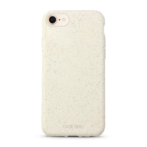 Cotton White Biodegradable iPhone SE Case
