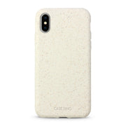 Cotton White Biodegradable iPhone X, XS and XS Max Case