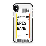 Brisbane Frequent Flyer iPhone X, XS and XS Max Case