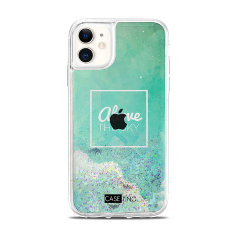 Above the sky Glitter iPhone 11 Case