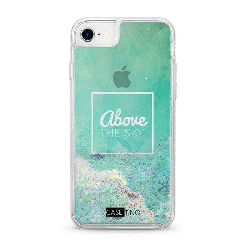Above the sky Glitter iPhone SE Case