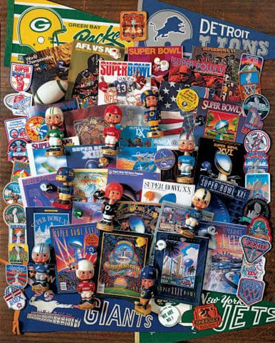 Football Fantasy 1000 Piece Interlocking Jigsaw Puzzle (Made in the USA)