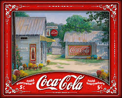 Springtime Serenity by Coca Cola! 500 Piece Interlocking Jigsaw Puzzle (Made in the USA)