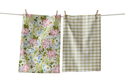 Daisy Floral Dishtowel Set of 2