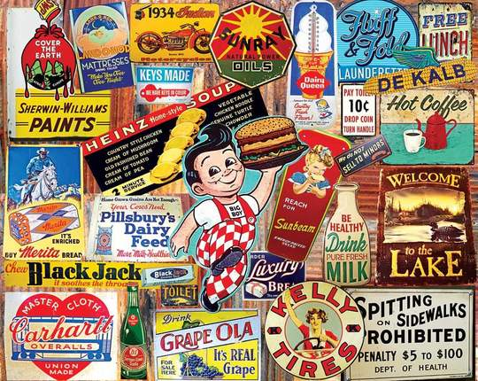 Vintage Signs 1000 Piece Jigsaw Puzzle