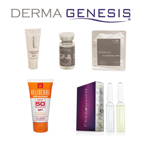 SPECIAL OFFER : DermaGenesis Growth Factor, PEEL2GLOW and  HELIOCARE SPF50