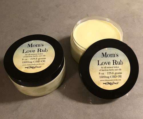 1500mg CBD Mom's Love Rub 8oz - CBD Mom's Love Rub