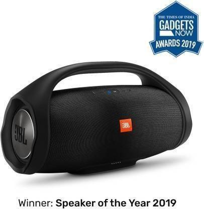 JBL Boombox Bluetooth Party Speaker with Wireless in-Ear Headphones Combo