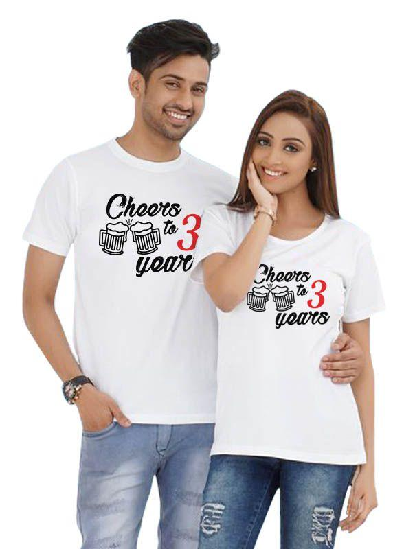 Years Together Couple T shirt