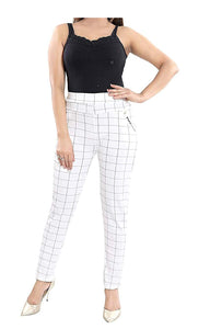 Cotton Printed chex Pants(with Diamond Pocket) Gym Legging Combo for Women(Free-Size) 28-32 Waist Size (Pack of-3)