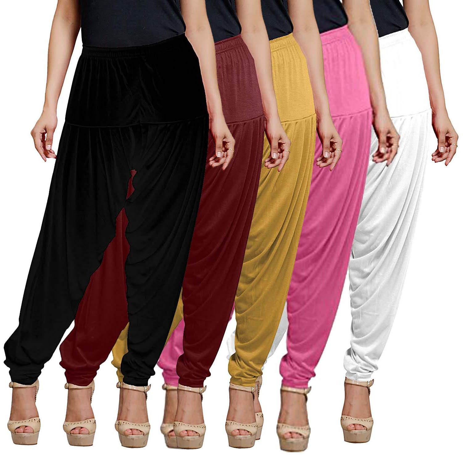 fashion biz Women's Patiala Pant for Viscose Multicolor