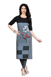 Women's Crepe Stitched Kurti (Multi-Coloured) Pack of 4