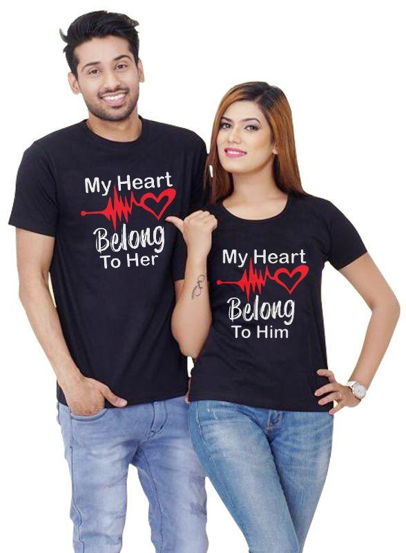 Hearts Exchanged Couple T shirt