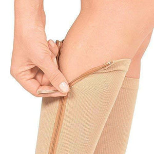 ZIP-UP Leg Support Knee Medical Sock -1 Pair
