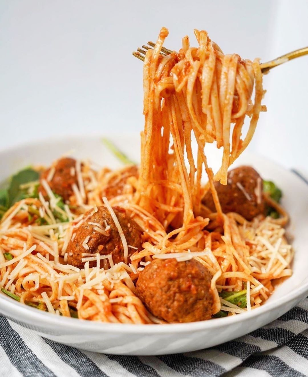 Spaghetti and Meatballs Running With Frosting