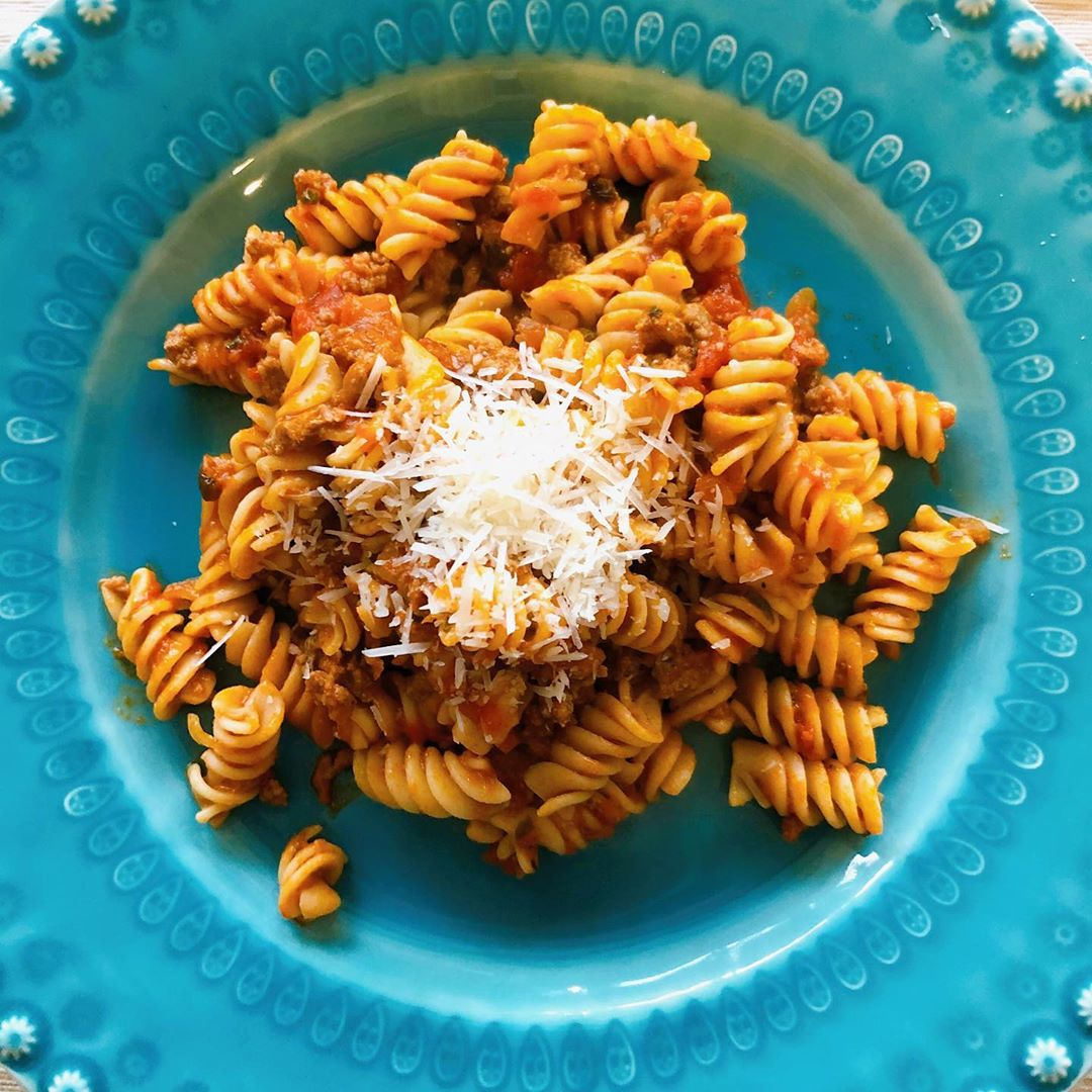 Delicious Healthy Rotini Bolognese