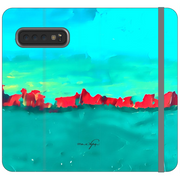 Phone Cases Wallet Red Sky at Night - Teal on Teal