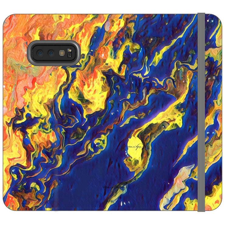 Phone Cases Wallet Topography - Reversed by the Blue Sea