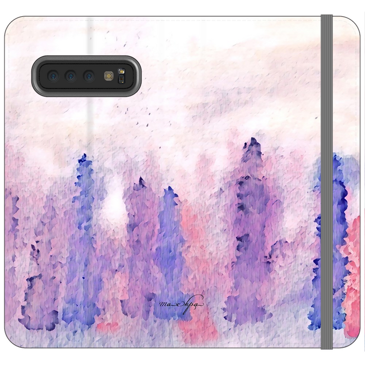 Phone Cases Wallet Lupins - Multicoloured Pale Hue