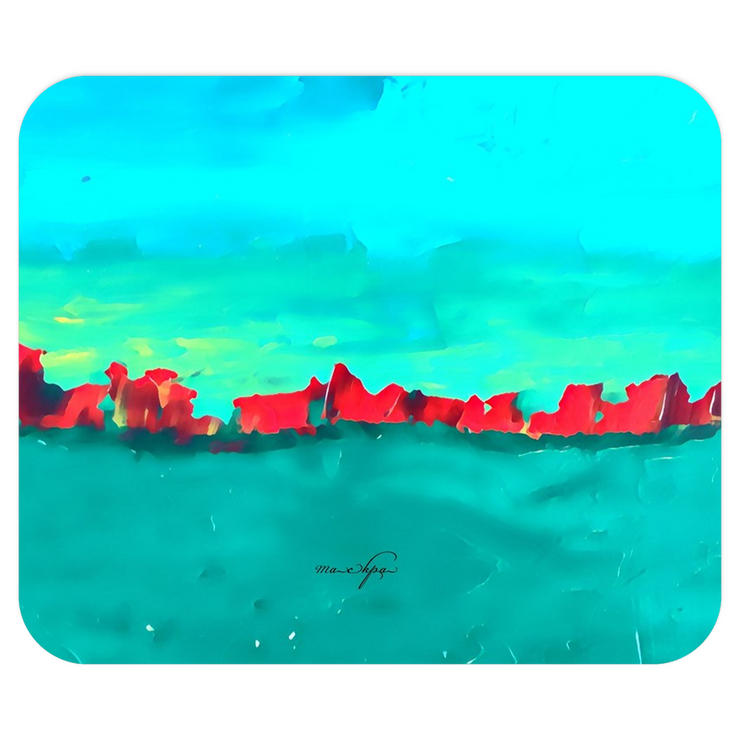 Mousepads Red Sky at Night - Teal on Teal
