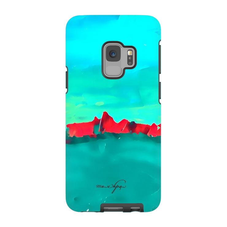 Phone Cases Red Sky at Night - Teal on Teal