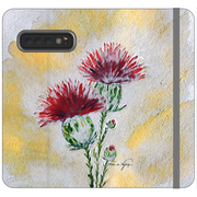 Phone Cases Wallet Thistle - Golden Silhouette