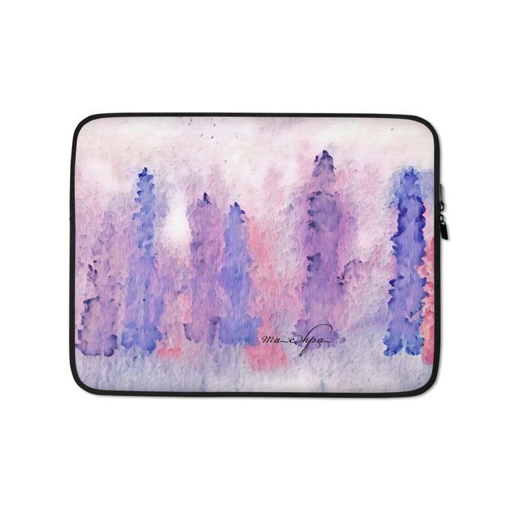 Laptop Sleeve Lupins - Multicoloured Pale Hue