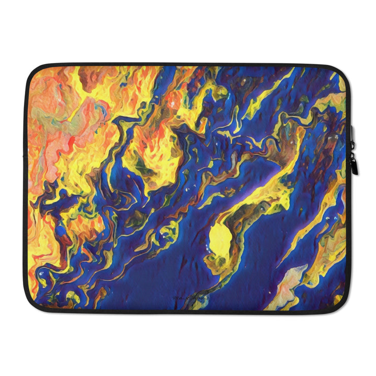Laptop Sleeve Topography - Reversed by the Blue Sea