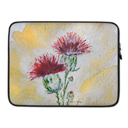 Laptop Sleeve Thistle - Golden Silhouette