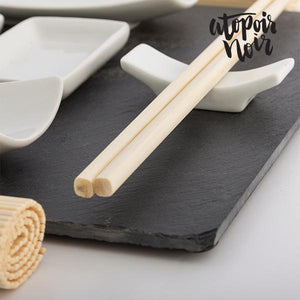 Atopoir Noir | Bamboo Sushi Set With Slate Tray (11 Pieces) - LimitedRetail® Here Today; Gone Today. Get It, Whilst It's Still Here!