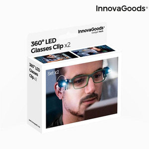 Gadget Tech | 360º Led Glasses Clip (Pack of 2) - LimitedRetail® Here Today; Gone Today. Get It, Whilst It's Still Here!