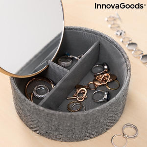 Home Organize | Mibox Bamboo Organiser Jewellery Box With Mirror - LimitedRetail® Here Today; Gone Today. Get It, Whilst It's Still Here!