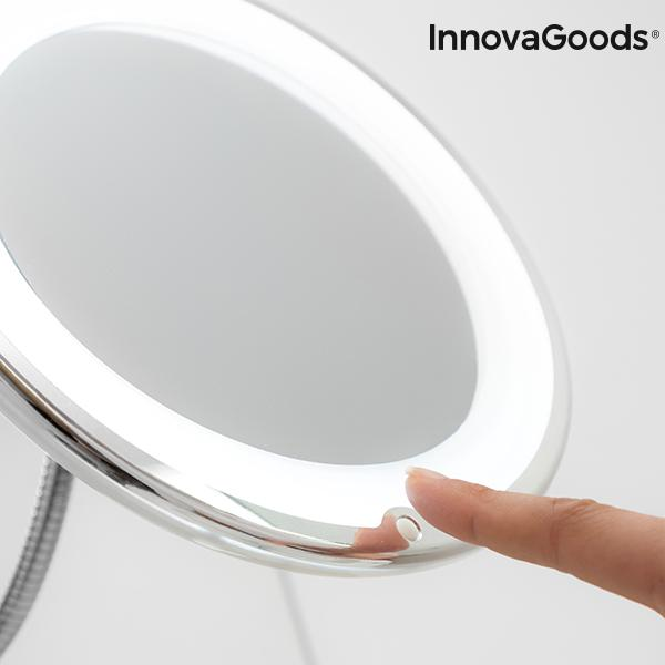 Wellness Beauté | Mizoom Led Magnifying Mirror With Flexible Arm and Suction Pad - LimitedRetail® Here Today; Gone Today. Get It, Whilst It's Still Here!