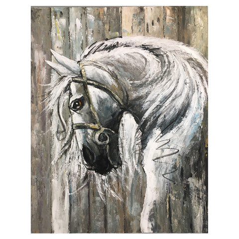 Art Canvas Horse Painting 80x100cm
